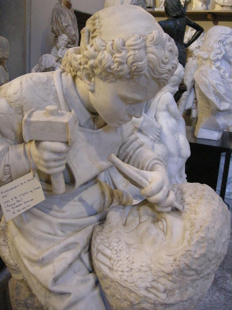 Микеланджело за работой