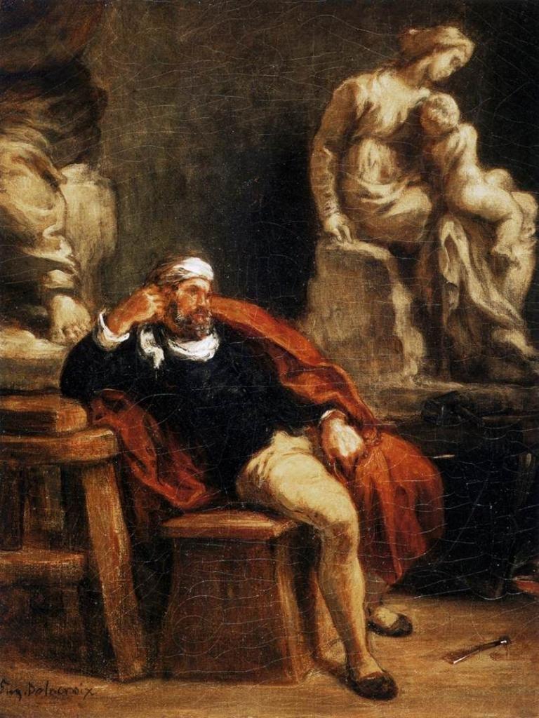 Микеланджело в студии