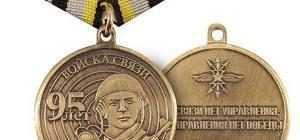 """Юбилейная медаль: """"95 лет войскам связи"""", """"95 лет разведке"""" и """"95 лет военной разведке"""""""