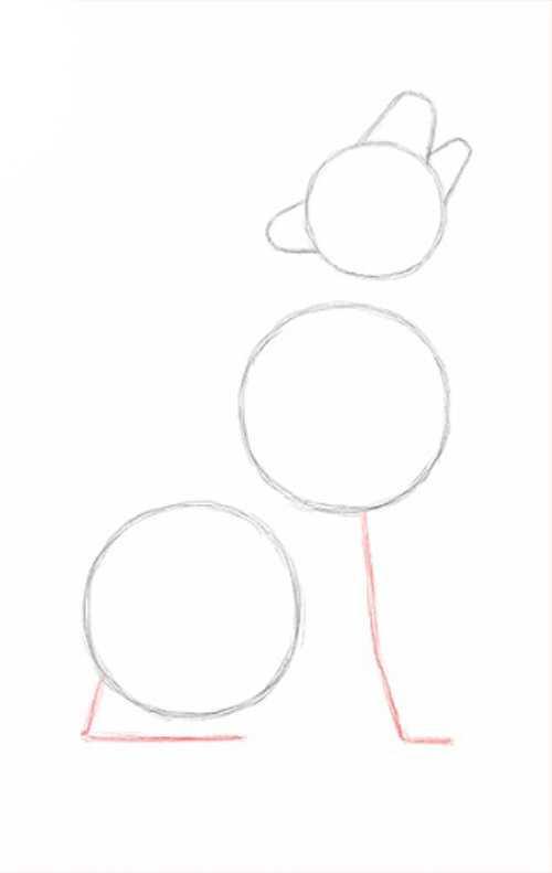 Как нарисовать воющего на луну волка карандашом?
