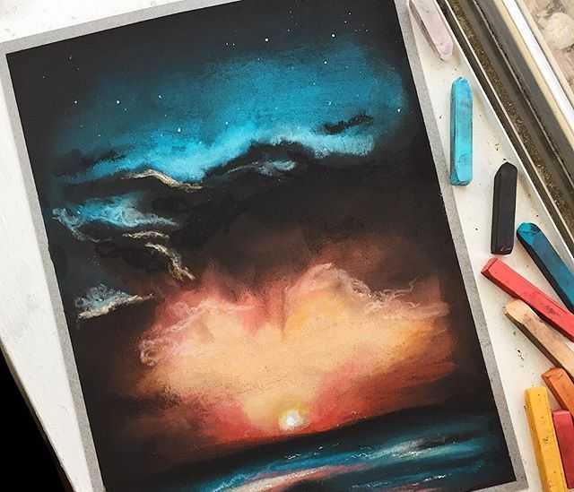 Техника рисования пастелью для начинающих