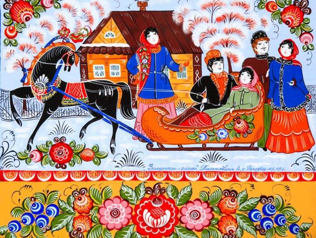 Волховская роспись по дереву