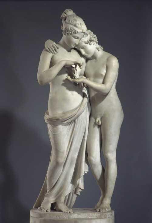 """Скульптура """"Амур и Психея"""": автор, история создания"""